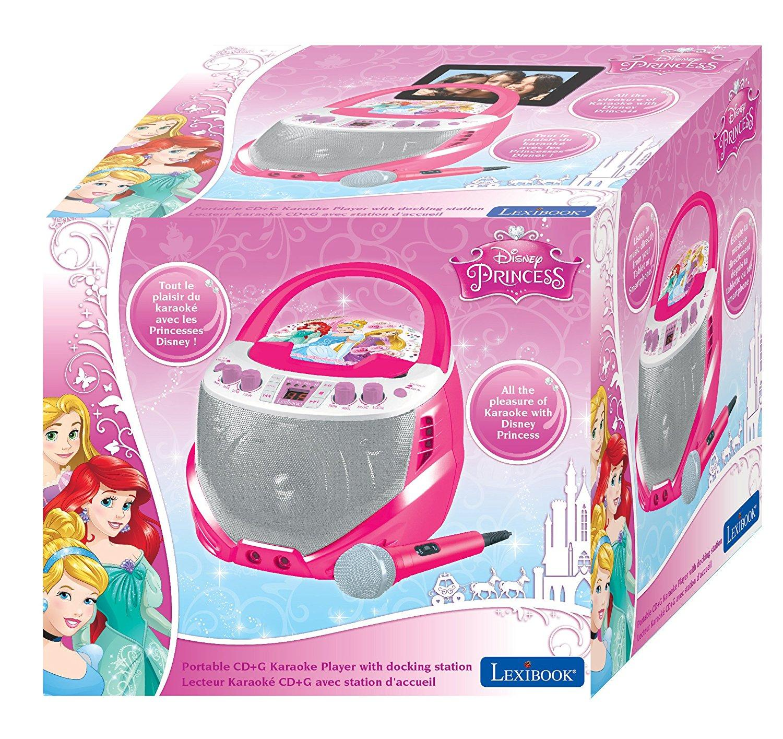 Princesas Disney K7000Dp - Lector CD Portatil con Microfono Karaoke, Efectos Vocales, Aux-In Compatible Rosa: Amazon.es: Electrónica