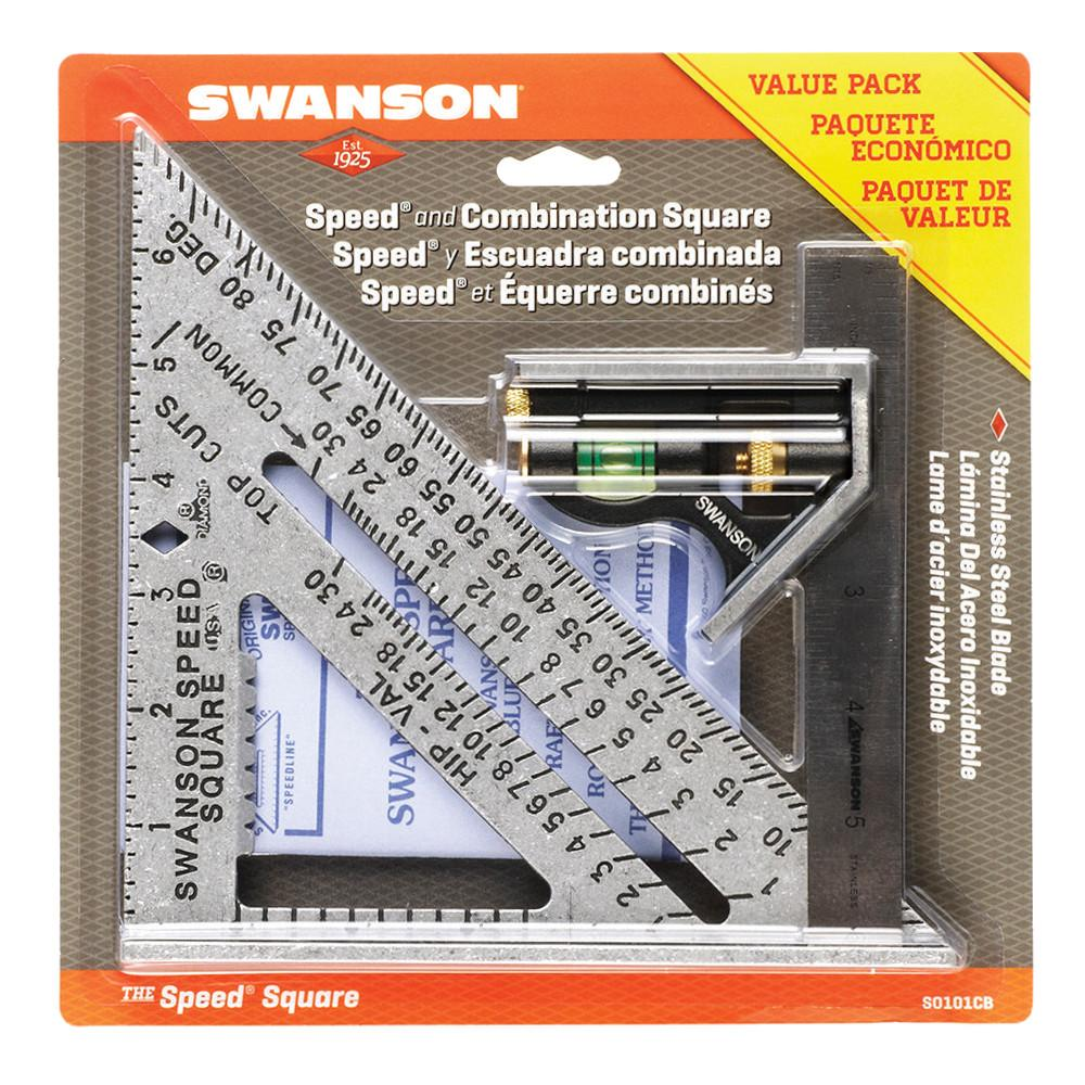 Swanson Tool S0101CB Speed Square Layout Tool with Blue