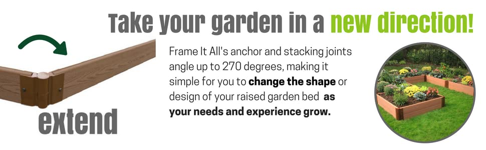 Amazon.com : Frame It All Raised 1 Level Garden, 4 by 4\' : Garden ...