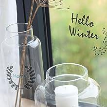 Décoration vitres stickers transparents