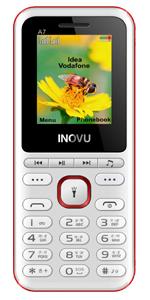 Inovu A7 white,feature mobile phone, keypad phone, basic mobile, dual sim phone, keypad mobile phone