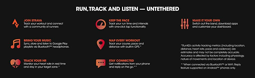 strava, bluetooth, heartrate monitor, pace, intervals, interval, apps, RunIQ, Wi-Fi