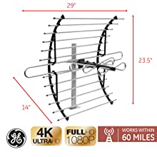 GE Attic Install HD TV Antenna Overview
