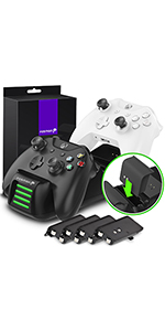 Fosmon Quad PRO Controller Charger Compatible with Xbox One / One X / One S