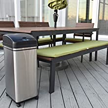 patio furniture outdoor trash can barbecue bbq pool party clean garbage trash can bin wheels