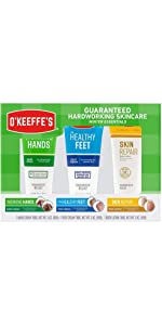 O'Keeffe's Winter Essentials Including Working Hands, Healthy Feet and Skin Repair