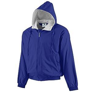 b40c5220d Augusta Sportswear Men's Hooded Taffeta Jacket/Fleece Lined