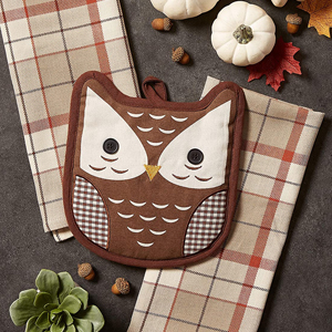 potholders,gift,set,owl,dishtowels