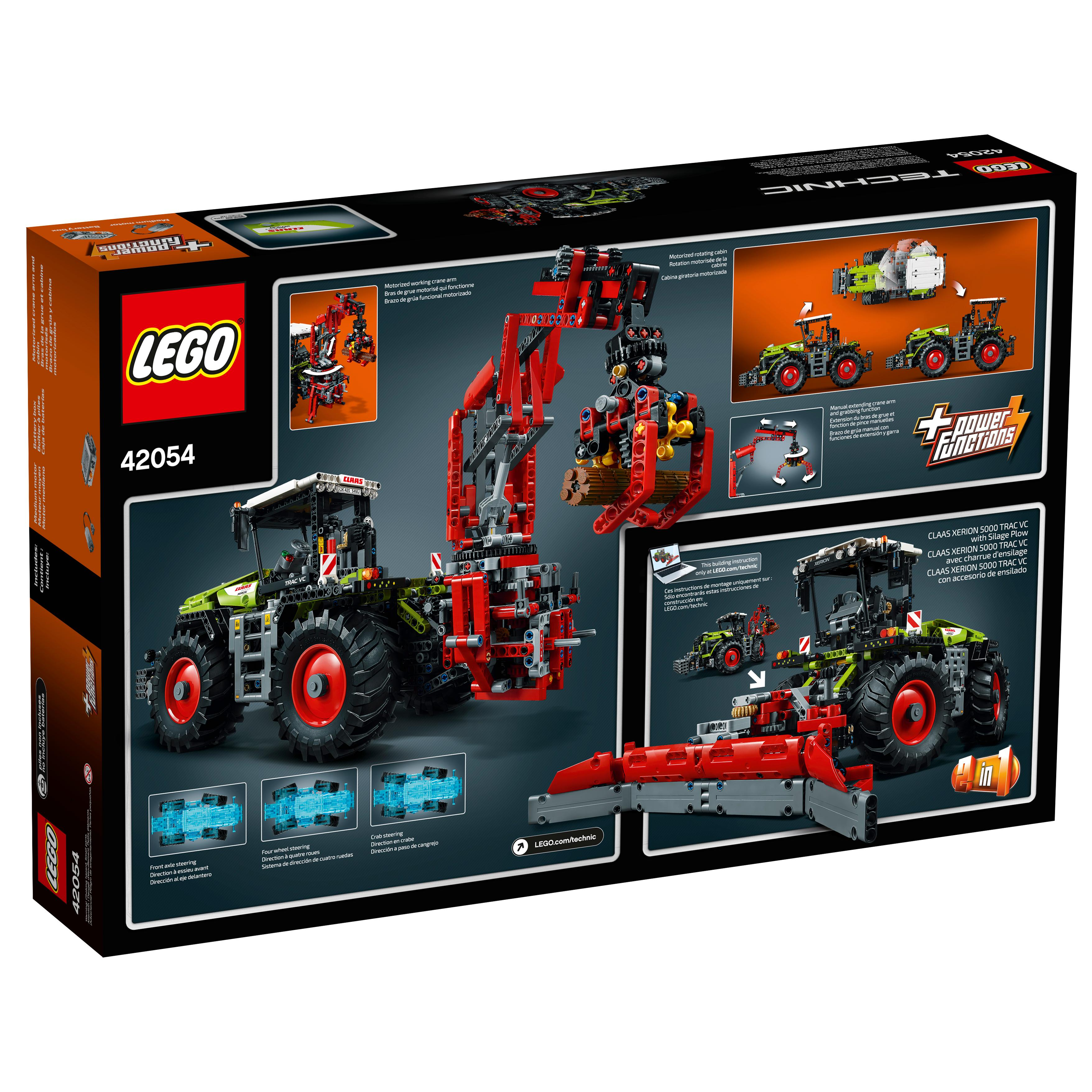 lego technic claas xerion 5000 trac vc 42054 advanced building set toys games. Black Bedroom Furniture Sets. Home Design Ideas