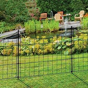 Ordinaire 25 Inch Tall Black Metal Garden Fence