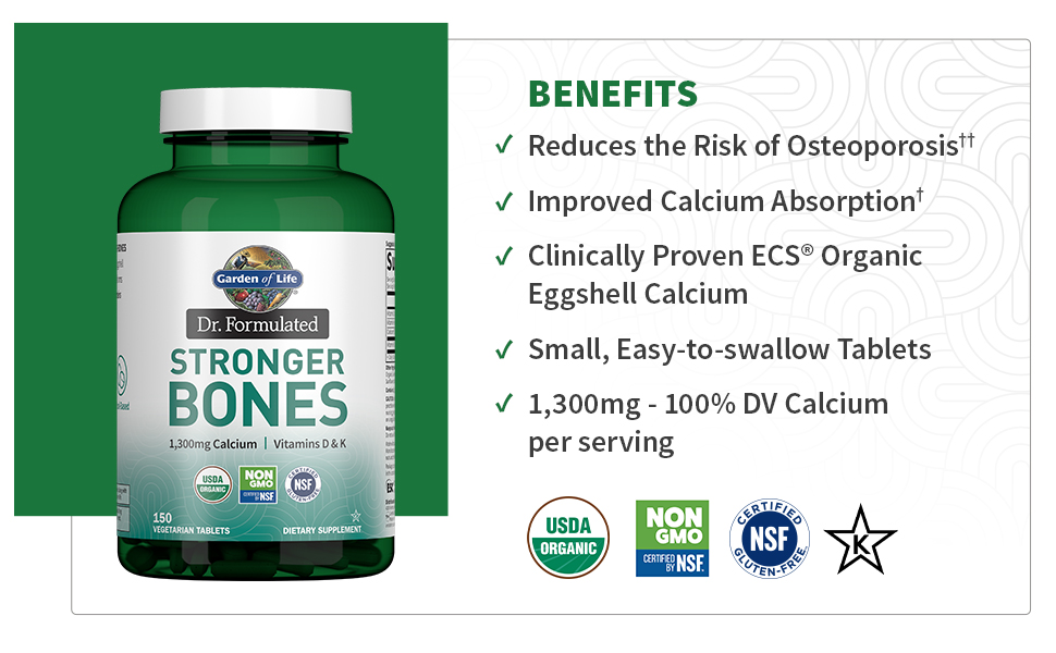 stronger bones calcium dr. formulated osteoporosis egg shell food based easy swallow organic