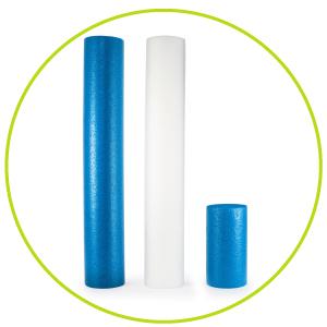 "ProSource Flex Full Round Foam Rollers 36"" x 6"" / 12"" x 6"", muscle massage roller, Pilates, Back"
