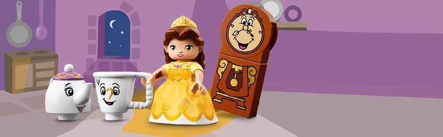 LEGO DUPLO Princesa - Fiesta de Té de Bella, Juguete de