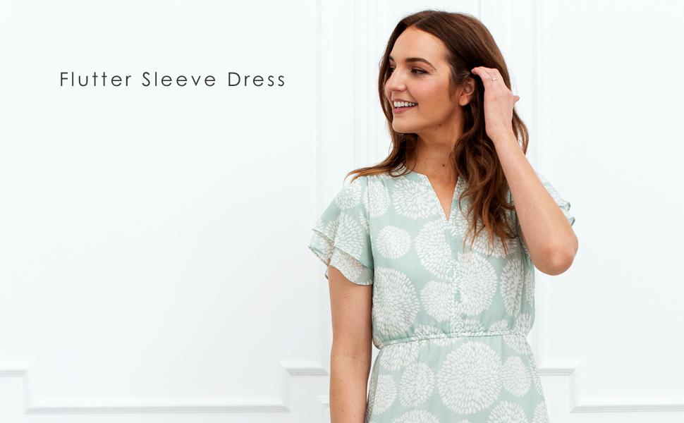 Downeast flutter sleeve dress