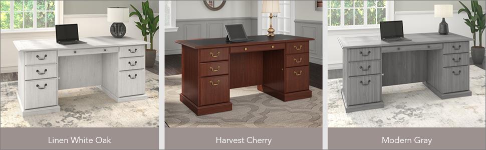 bush furniture,saratoga,linen white oak,transitional,bush,bush industries