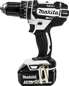 LARGE White//Black Makita DHP482RM1JW Combi 18v 4Ah Black /& White Drill Cordless LXT Li-ion 18 V