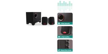 Altavoces estéreo 2.1 con subwoofer de 15 vatios RMS para su ordenador, portátil, smartphone, tableta, TV y reproductor de MP3