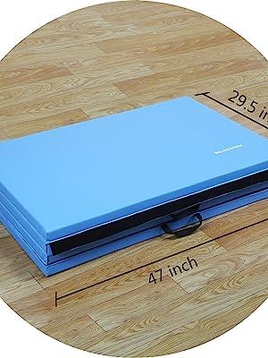 BalanceFrom GoGym All-Purpose 4'x10'x2 Extra Thick High Density Gymnastics Folding Exercise Mats