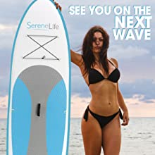 sereneLife inflatable stand up paddle board image 2