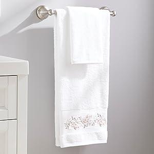 SKL Home Misty Floral Shower Curtain Blush Pink Flowers Bathroom