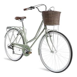 kingston hampton sage green classic retro bike