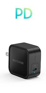61W GaN採用 USB-C急速充電器 RP-PC112