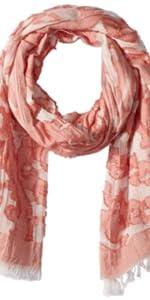Tickled Pink Floral Tapestry Orange summer scarves