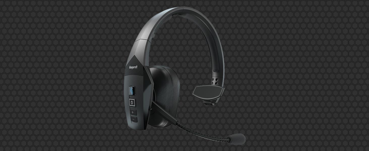 Blueparrott B550 Xt Mono Bluetooth Over Ear Headset 96 Noise Cancelling Mit Sprachsteuerung Für Unterwegs Und Walkie Talkie Funktion Schwarz Elektronik