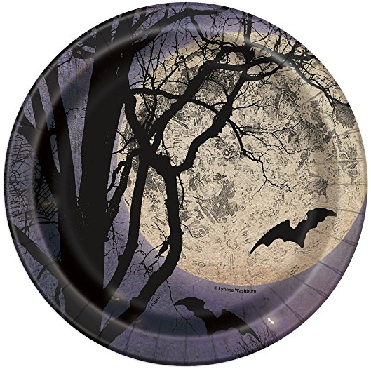 Spooky Night Halloween Paper Party Plates 8ct · Spooky Night Halloween Paper Cake Plates 8ct · Spooky Night Halloween Party Napkins 16ct ...  sc 1 st  Amazon.com & Amazon.com: Spooky Night Halloween Paper Cake Plates 8ct: Kitchen ...