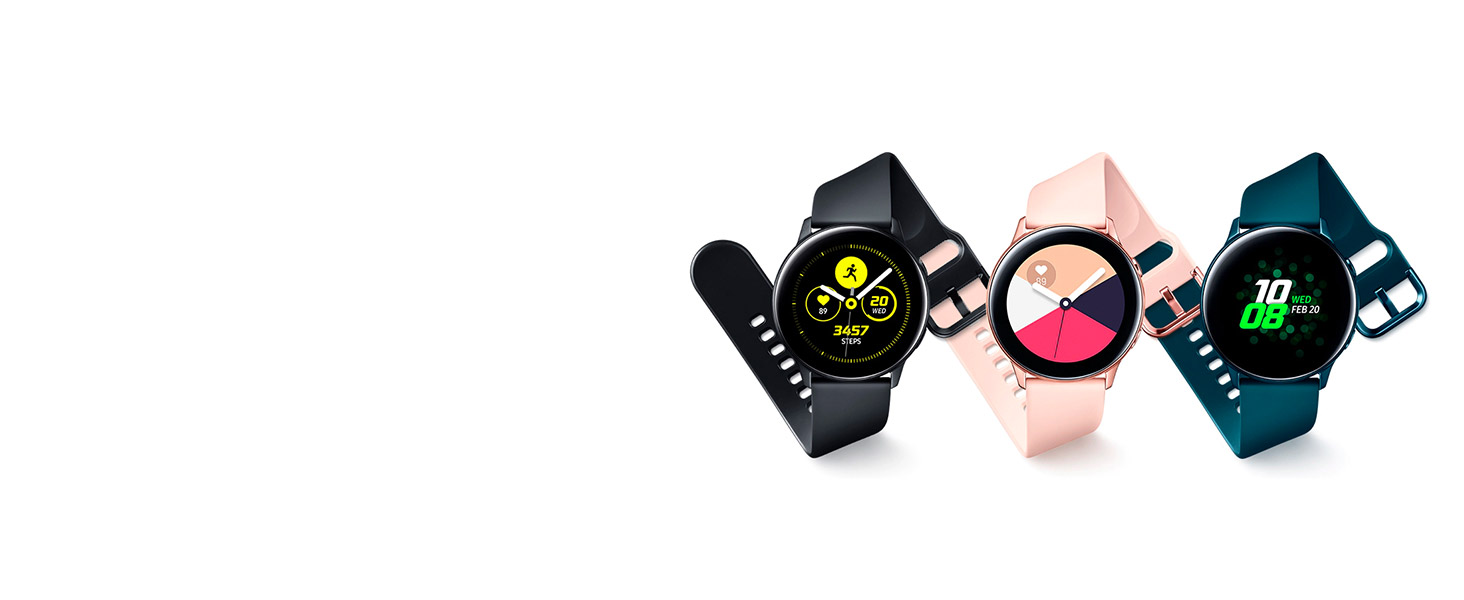 Galaxy Watch Active negro, rosa, verde