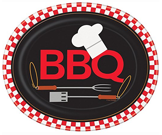 Backyard BBQ Oval Paper Plates 8ct · Black and White Checkered Oval Paper Plates 8ct · Oval Red and White Gingham Paper Plates 8ct · Plastic Black Shot ...  sc 1 st  Amazon.com & Amazon.com: Oval Red and White Gingham Paper Plates 8ct: Kitchen ...