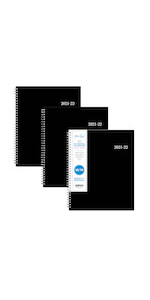 blue sky, enterprise collection, 3 pack planner, weekly, monthly, 2021-22, 8.5x11, professional