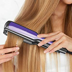 fast heat up memory function hinge lock heat temp temperature hair straightener flat iron