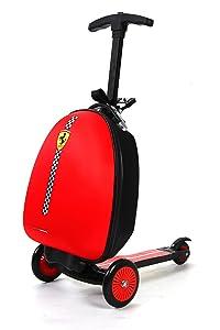 Amazon.com: Ferrari Kids Scooter Luggage, Red: Sports