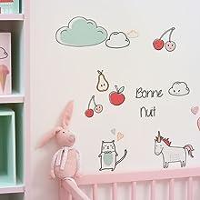 Décoration chambre enfant stickers transparents