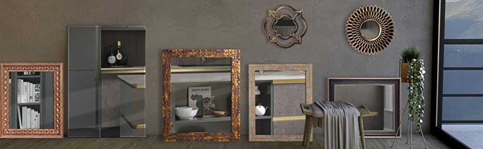 designer wall mirror, vanity wall mirror, bathroom wall mirror, large wall, frameless wall mirror