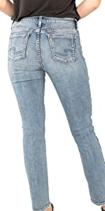 SILVER JEANS CO. ELYSE SLIM BOOT CURVY FIT