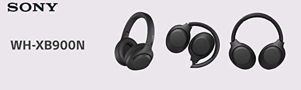 Sony WH-XB900N, Auriculares Diadema Inalámbricos, Batería de hasta 30h, Carga Rápida