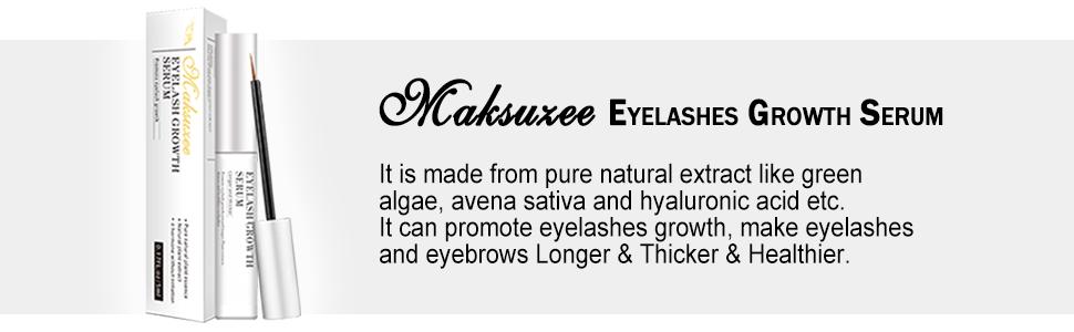 331476c6f3d Amazon.com: Maksuzee Eyelash Growth Serum(5ml) Pure Natural Formula ...