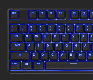 SteelSeries Apex M500, Teclado para Juego, mecánico, Cherry MX Red, con retroiluminación Azul, (PC/Mac) - Disposición US QWERTY
