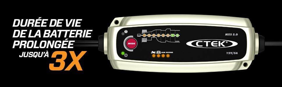 chargeur ctek ctek ctek mxs 5.0 chargeur batterie chargeur batterie lente maintien charge batterie c