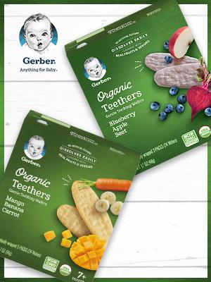 Gerber Organic Teethers