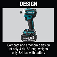 design compact ergonomic design long weighs only lbs battery not included