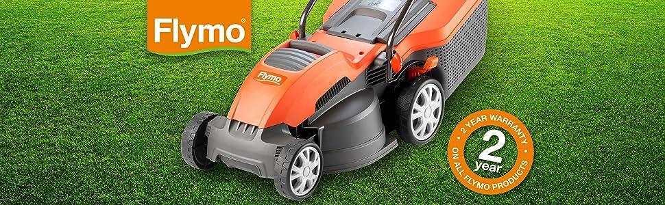 Flymo Speedi-Mo 360C Electric Wheeled Lawnmower, 1500W, Cutting Width 36cm