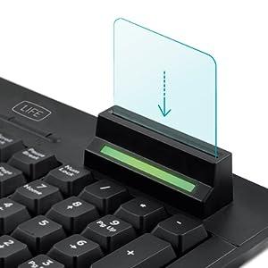 1Life Smart Card -1IFEKBSMTCRDES- Teclado con un lector/escritor de tarjetas, compatible con tarjeta identidad, teclado numerico, USB, layout ES, ...