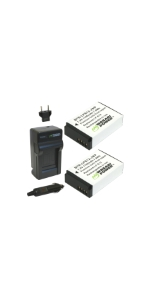 Wasabi Power Batteries + Charger Kit for Canon LP-E12