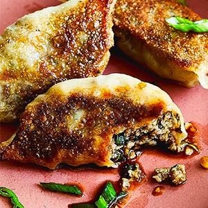 samosa, dumpling, delicious, delightful, meat substitute, impossible burger
