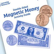 Amazon Com Learning Resources Double Sided Magnetic Money