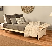 Futon, Sofa, Couch, Frame, Sleeper, Hide a Bed, Frame, Wood, Solid, Guest, Guest Bed, Mattress, Bed