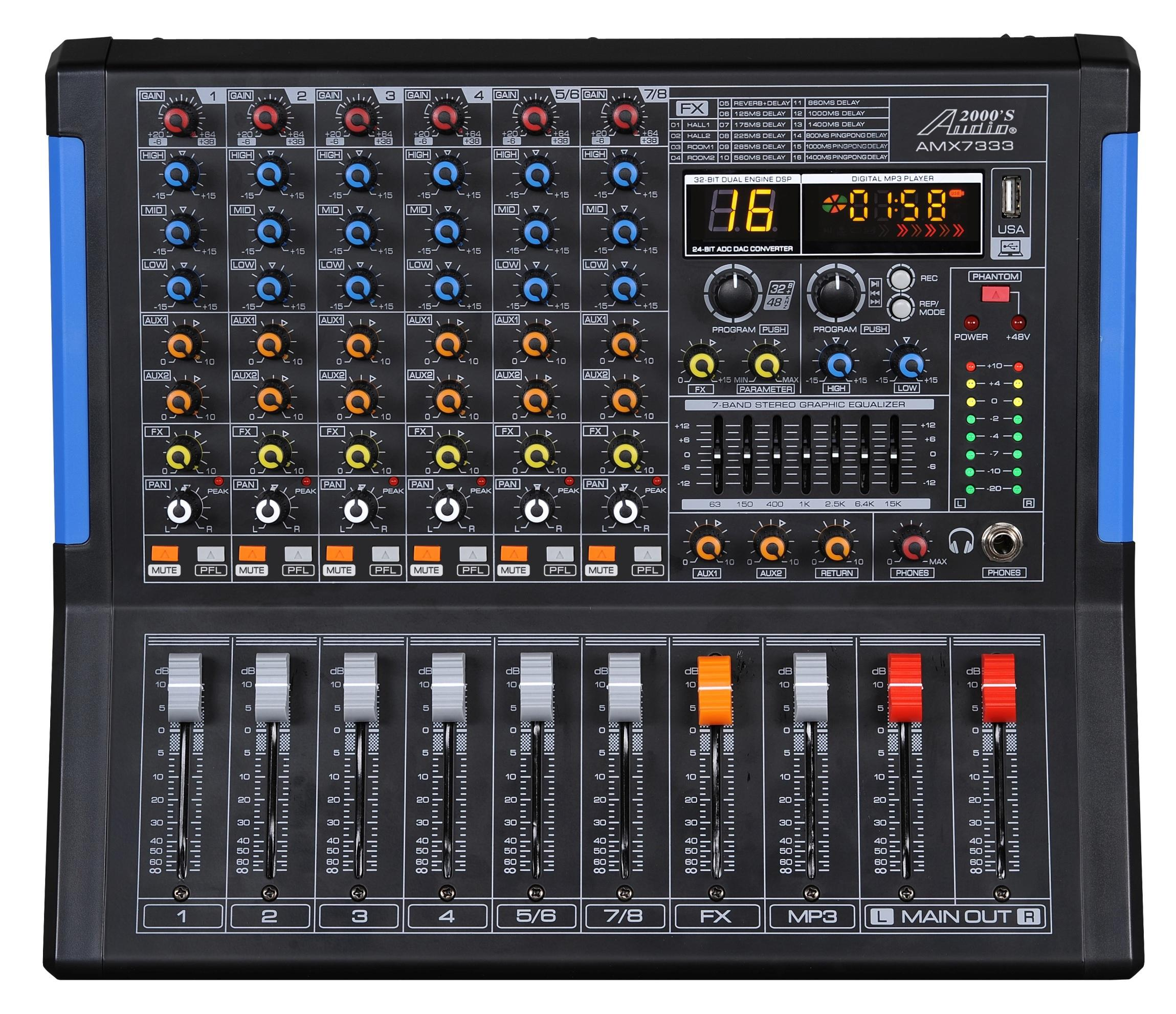 professional six channel audio mixer with usb interface bluetooth and dsp sound. Black Bedroom Furniture Sets. Home Design Ideas